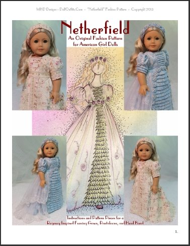 Netherfield An Original Regency Era Fashion Pattern For American Fascinating American Girl Patterns