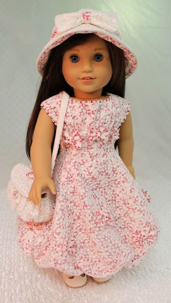 "/""Robe Nuage/"" Original Fashion Pattern for American Girl Dolls Maryellen 1950s"