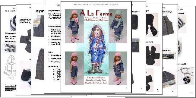 """/""""Simplicité/"""" Fashion Pattern for 12 Inch Kish Bethany"""